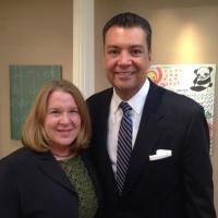 Image of CVF President Kim Alexander with California Secretary of State Alex Padilla, 2015